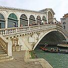 Rialto Bridge on the Grand Canal Venice Italy by John Keates
