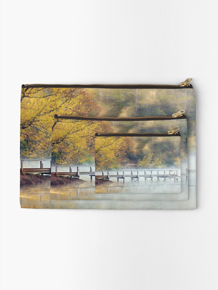 Alternate view of Lake Daylesford Dawn, Victoria, Australia Zipper Pouch