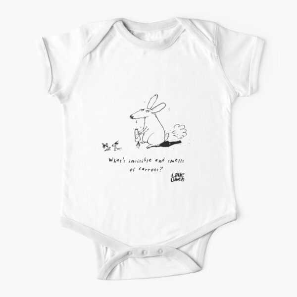 Little Lunch: The Joke Competition Short Sleeve Baby One-Piece