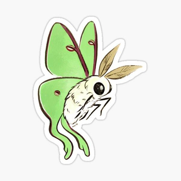 Fuzzy Cute Luna Moth Sticker