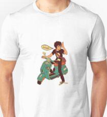 Nico di Angelo on a Vespa Ciao Unisex T-Shirt