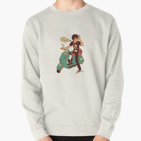 Nico di Angelo on a Vespa Ciao Pullover Sweatshirt