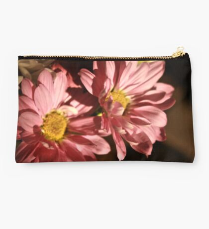 Double Pink Flower Studio Pouch