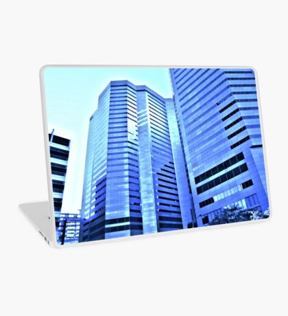 Blue City In Glass  Laptop Skin