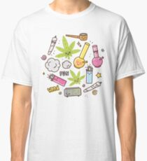Kawaii marijuana / Cute weed Classic T-Shirt