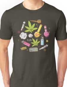 Kawaii marijuana / Cute weed Unisex T-Shirt