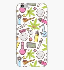 Vinilo o funda para iPhone Kawaii marijuana / Cute weed
