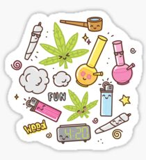 Kawaii marijuana / Cute weed Sticker