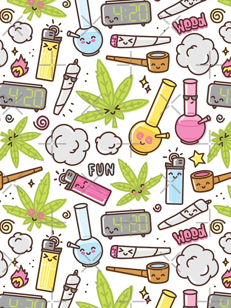 Kawaii marijuana / Cute weed by dmitriylo