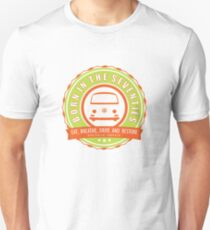 Retro Badge Seventies Orange Green T-Shirt