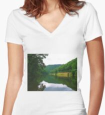 Berwind Lake Women's Fitted V-Neck T-Shirt