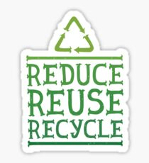 Reduce reuse recycle green motivation  Sticker