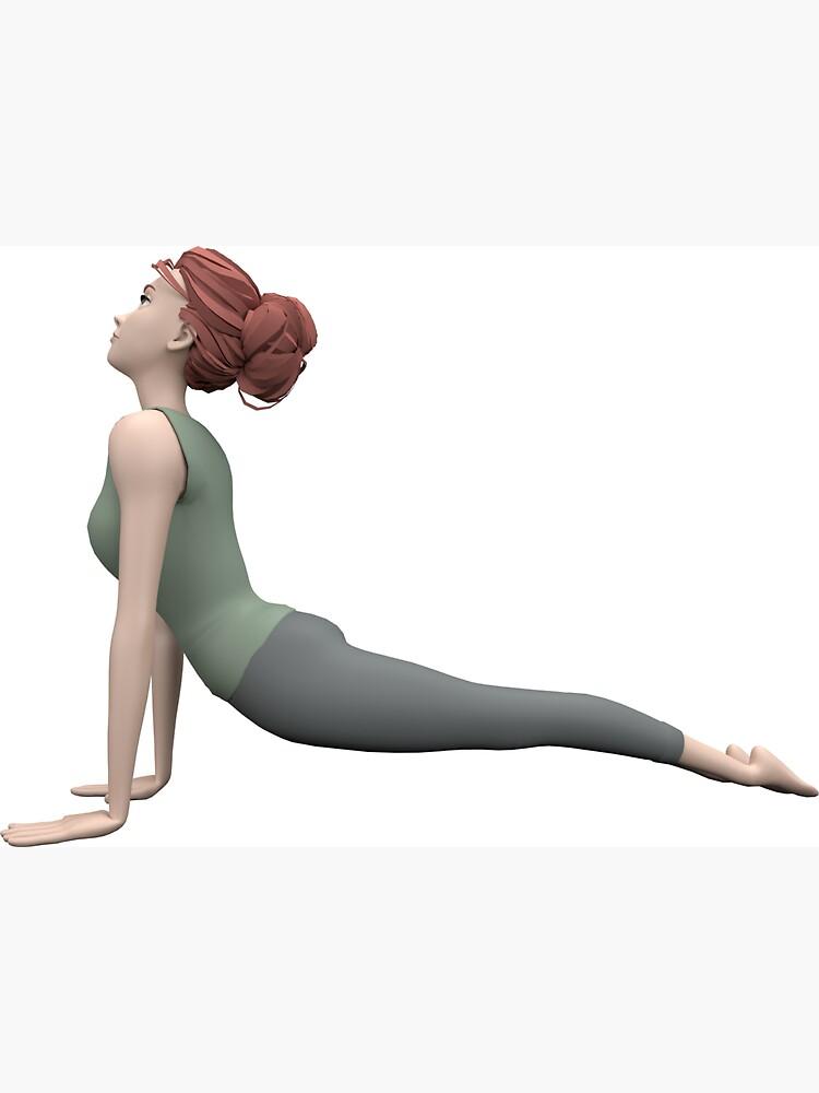 «Yoga - Posture du chien tête en haut» par Pidl