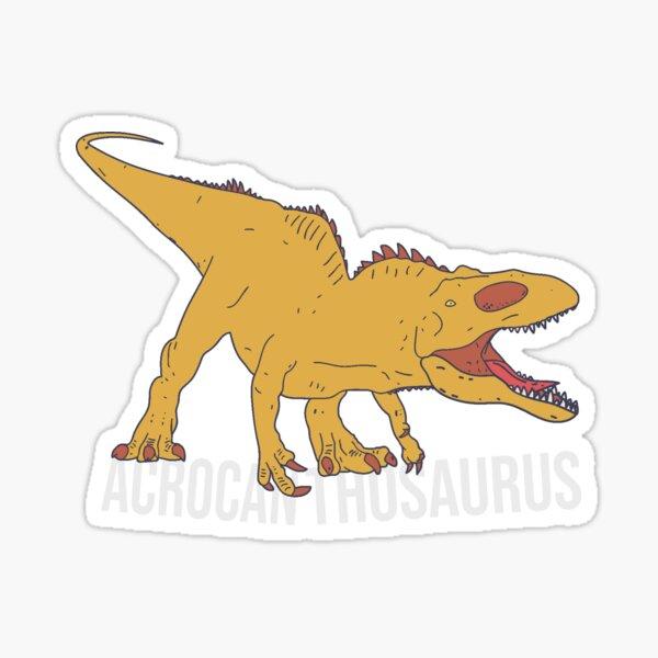Acrocanthosaurus Pocket Text - Cretaceous Carnivore Sticker