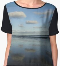 Cloud & Sky Reflections, Breamlea Beach, Australia 2014 Chiffon Top