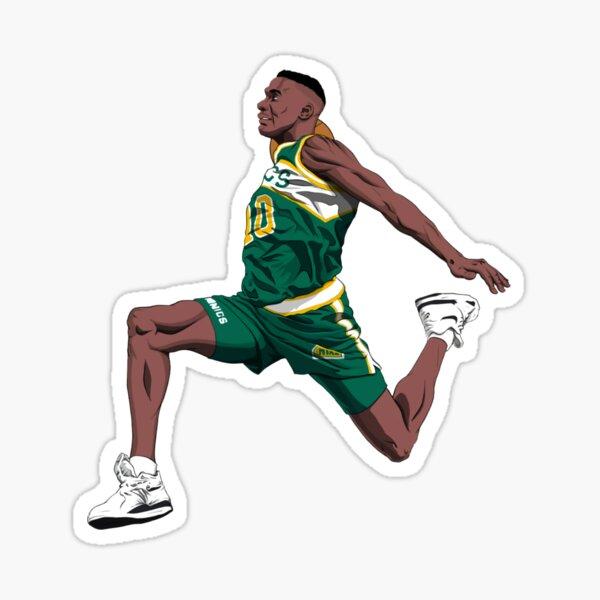 Shawn Kemp 40 - King Dunk Basketball Sticker