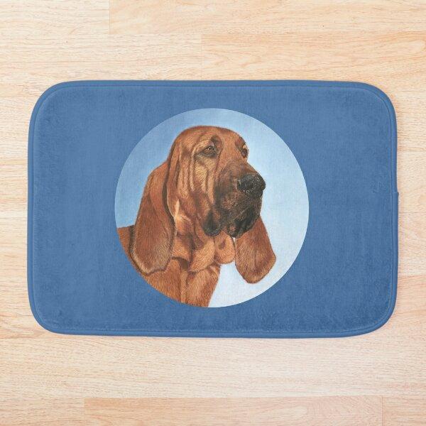 Bloodhound portrait, chien de Saint-Hubert Bath Mat