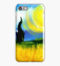 summer fields forest impressionist van gough iPhone Case/Skin
