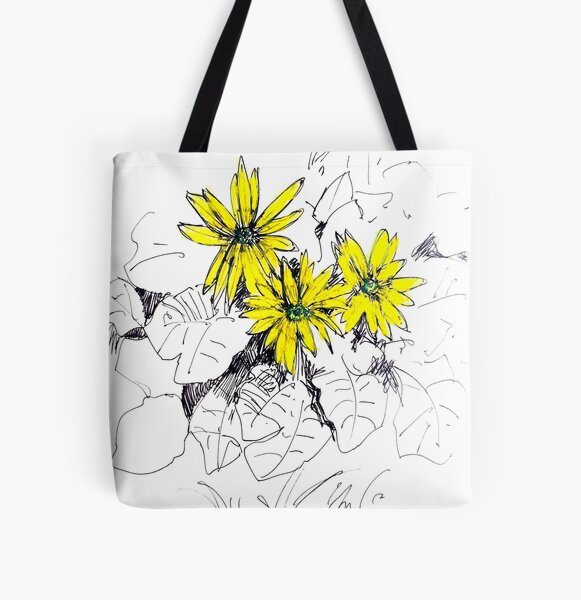 Daisies01 All Over Print Tote Bag