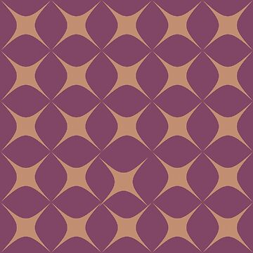 Purple and Yellow Star Pattern by Boy-With-Hat