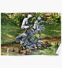 Fishing in the pond Poster