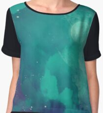 Night sky [watercolor] Chiffon Top