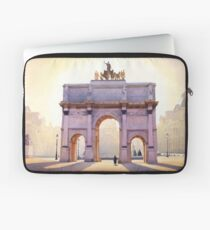 """Riding the Light"" Carousel in Paris Watercolor  Laptoptasche"