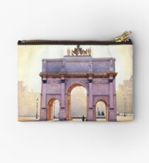 """Riding the Light"" Carousel in Paris Watercolor  Studio Pouch"