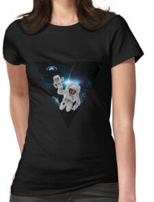 Cats Lost in Space Womens Fitted T-Shirt