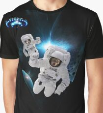Cats Lost in Space Graphic T-Shirt