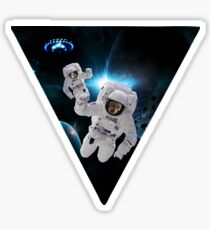 Cats Lost in Space Sticker