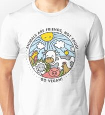 Animals are friends, not food. Go vegan!  T-Shirt