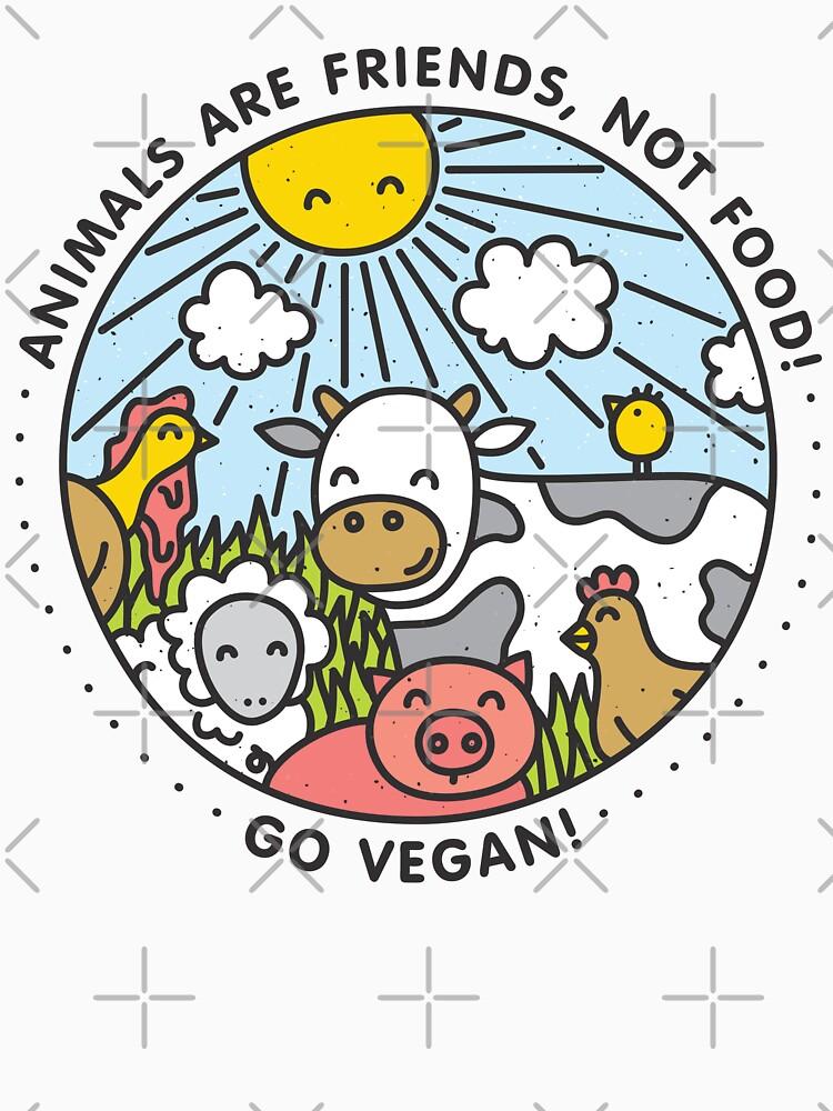 Tiere sind Freunde, nicht Essen. Zum Veganer werden! von dmitriylo