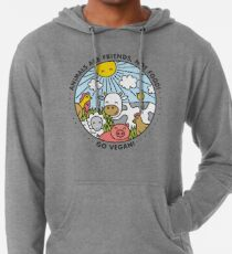 Animals are friends, not food. Go vegan!  Lightweight Hoodie