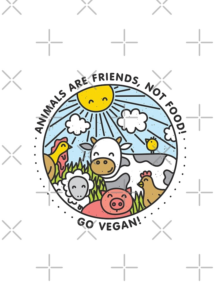 Animals are friends, not food. Go vegan!  by dmitriylo