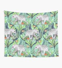 Little Elephant on a Jungle Adventure – faded vintage version Wall Tapestry