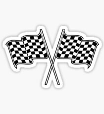 checkered flag Sticker