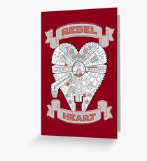 Rebel Heart - red Grußkarte