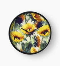 Sunflowers Forever Clock