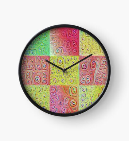 #DeepDreamed factures Clock
