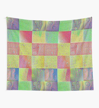 #DeepDreamed factures Wall Tapestry