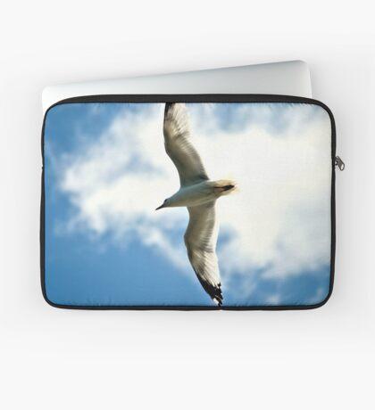 White Bird In Blue Sky Laptop Sleeve