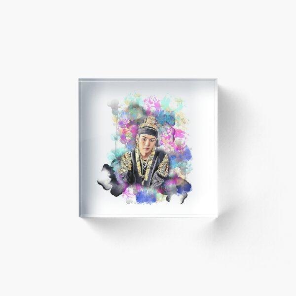 BTS Min Yoongi August D colorful art Acrylic Block