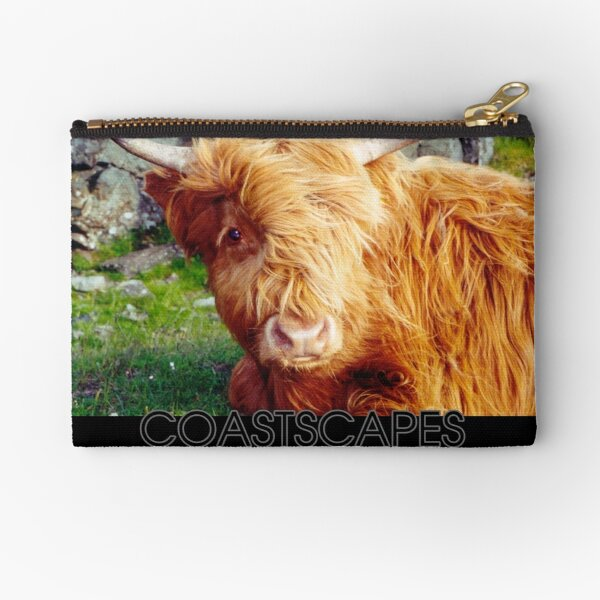Here's Looking At You - Highland Cow Photograph Zipper Pouch