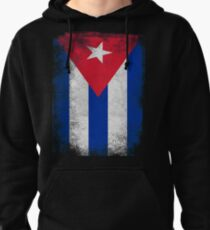 Cuba Flag Proud Cuban Vintage Distressed Pullover Hoodie