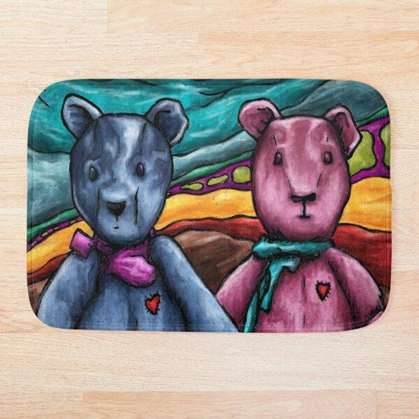 Peinture d'art ours en peluche Tapis de bain