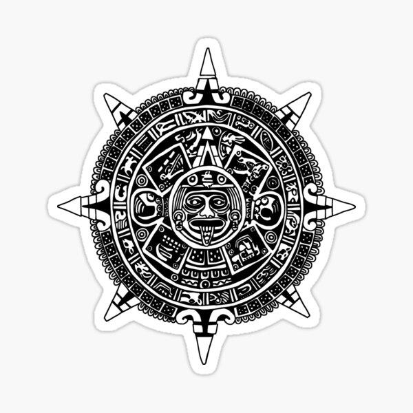Mesoamerica - Aztec Calendar Sticker