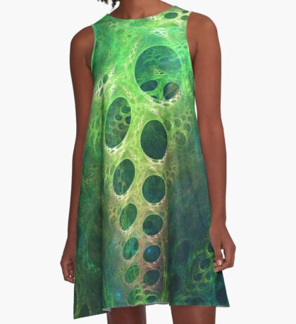 BubbleX #fractal art A-Line Dress