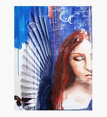 Sleeping angel with butterfly Photographic Print