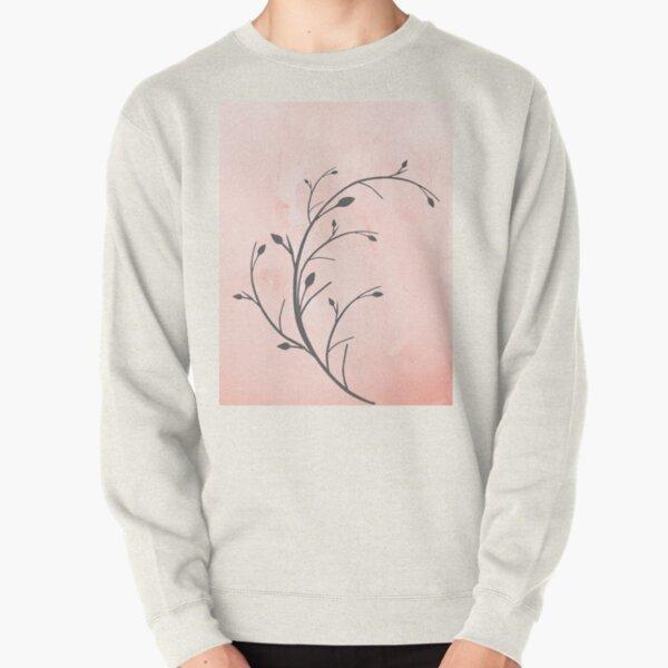Japandi Twig Print Pullover Sweatshirt